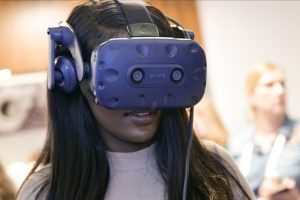 Experiencing VR at our 2019 WeAreTechWomen Conference