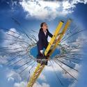 Woman smashing the glass ceiling-thumbnail