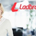 Ladbrokes-logo and woman