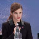 Emma Watson speaking at Davos