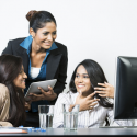 diverse women in a meeting, greater impact in meetings