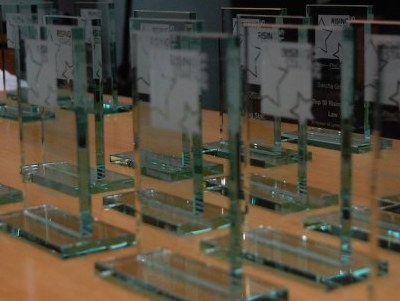 Rising Star Award trophies