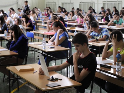 students taking their exams featured