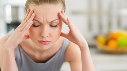Stressed woman suffering from a burnout