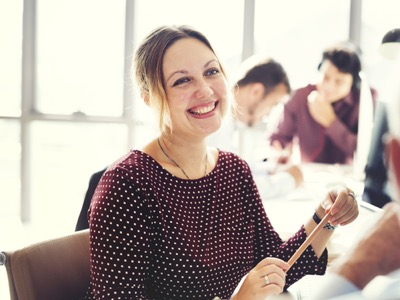 happy-woman-at-work-mental-health-featured