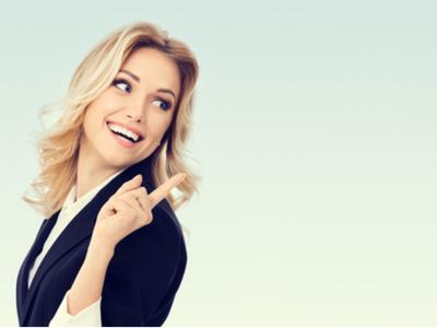 Happy employment female