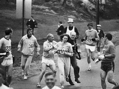 katherine switzer running the boston marathon featured