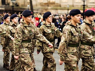 female soldiers, flexible working featured