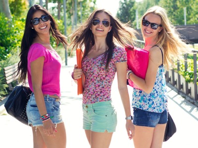 high school students, dressed modestly featured