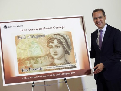 Jane Austen bank note featured