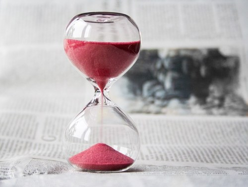 hourglass, time
