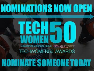 nominations open techwomen50 awards