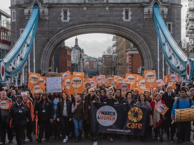 CARE International's #March4Women, London, UK 04 Mar 2017 featured