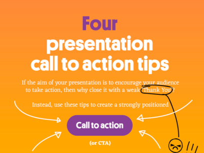four presentation tips call to action featured