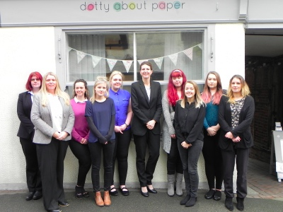 Be the Business - Dotty about Paper - Team Photo featured