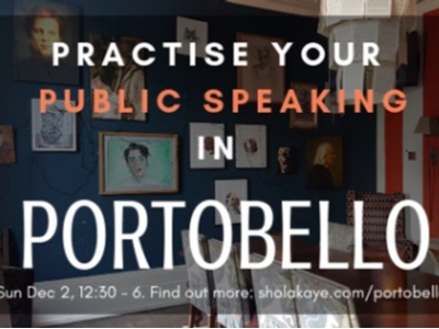 Public speaking in Portobello featured