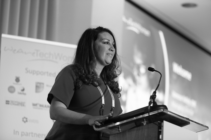 Vanessa Vallely, Managing Director, WeAreTechWomen opening the conference