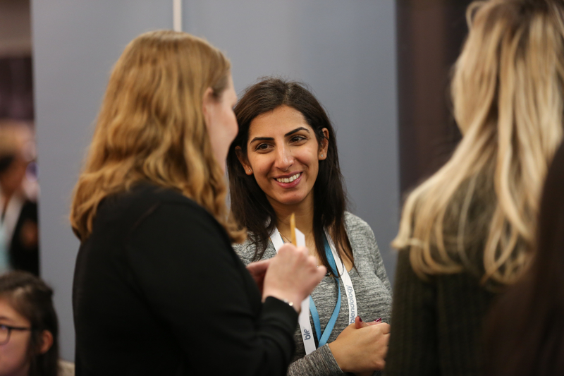Networking at the WeAreTechWomen Conference
