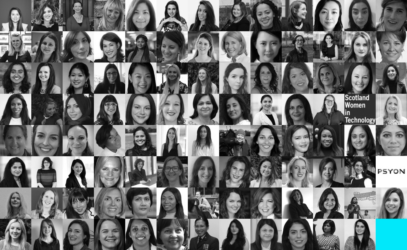 TechWomen100 winners image no logo b&w