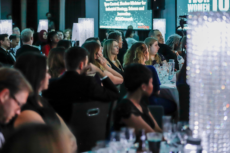 Attendees seated at the TechWomen100 awards