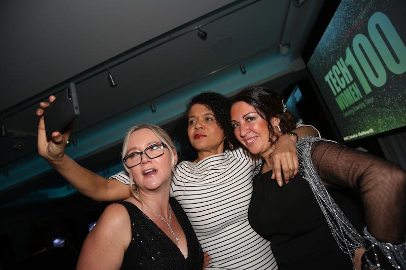 Selfies at the TechWomen100 Awards