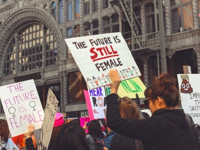 Women's march, proud feminist featured
