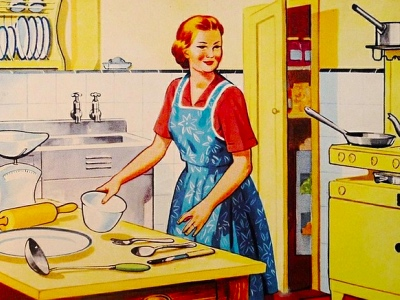 gender stereotypes, vintage advertising featured