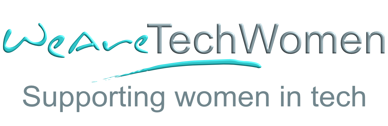 WeAreTechWomen with strapline