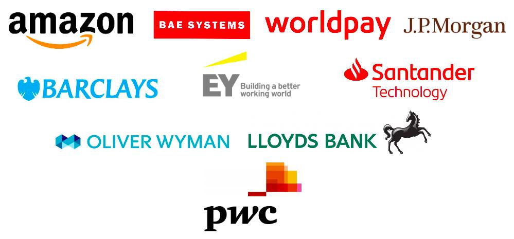 WeAreTechWomen conference sponsors logos