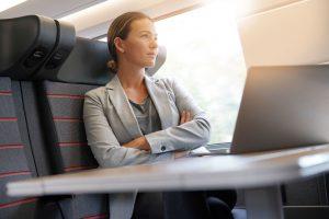 female traveller, women on train