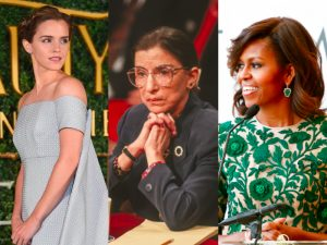 Emma Watson, Ruth Bader-Ginsburg, Michelle Obama featured