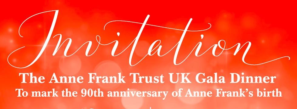 The Anne Frank Trust Gala Dinner