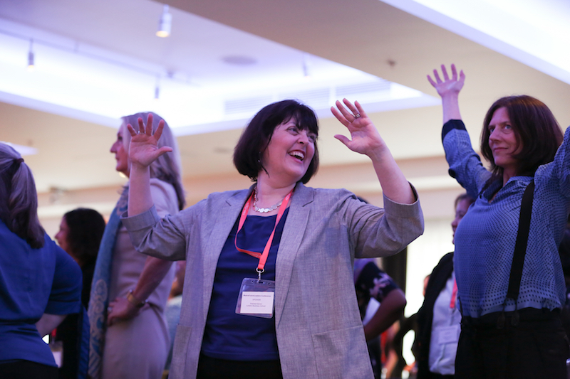 Power posing at the WeAreFutureLeaders Conference