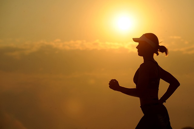 healthy lifestyle, health, woman running