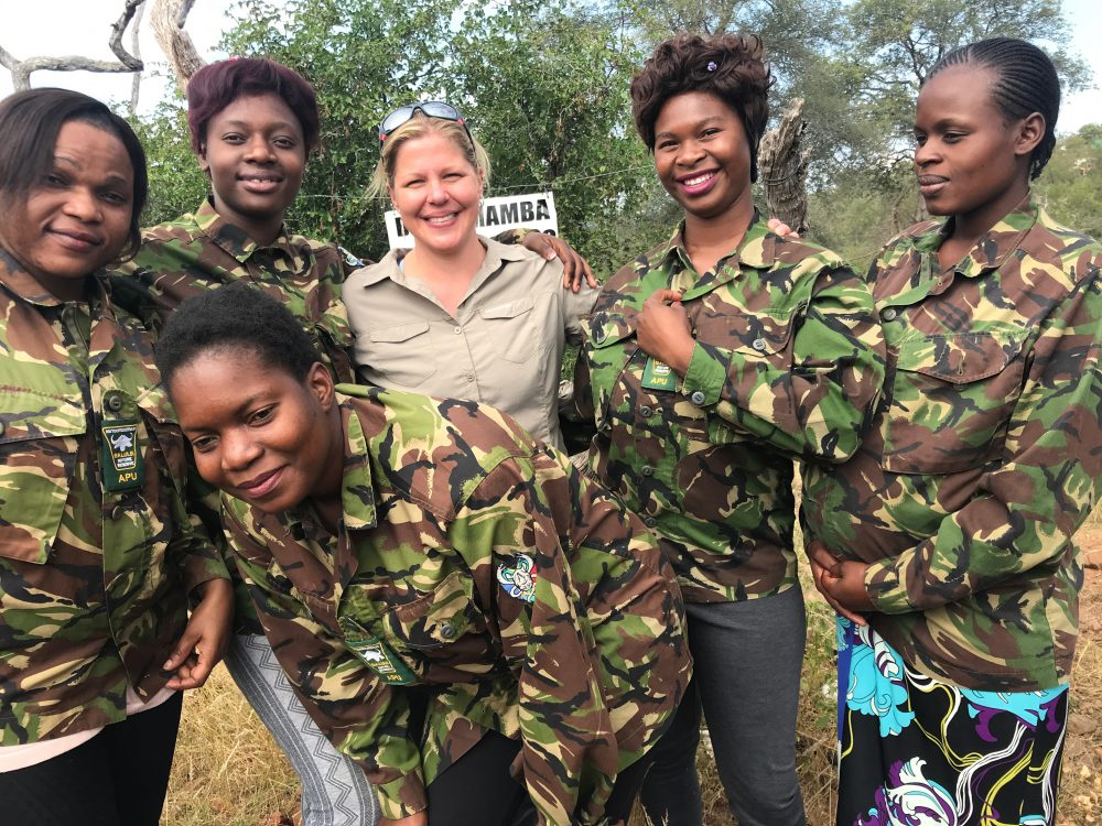 Holly Budge with Black Mambas