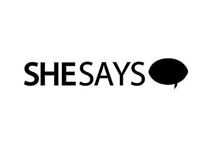 She Says logo