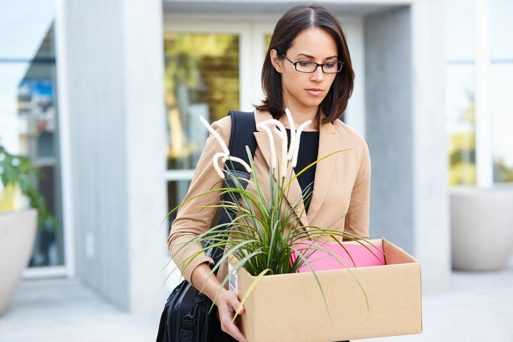 woman being made redundant, redundancy, leaving a job, unfair dismissal