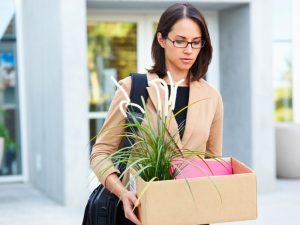 woman being made redundant, redundancy, leaving a job featured