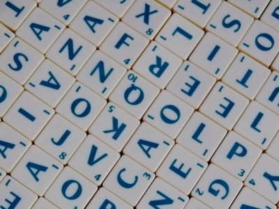 scrabble tiles, suitcase words featured