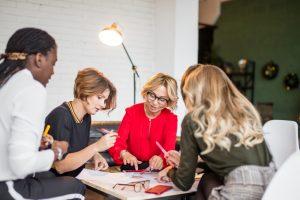multi-level marketing, diverse women talking, executive women on boards