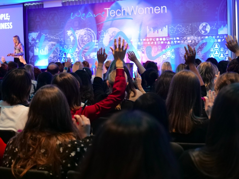 Delegates at the WeAreTechWomen conference