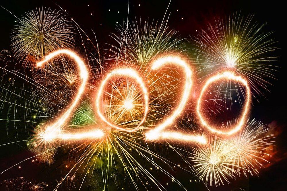 New Year fireworks, 2020