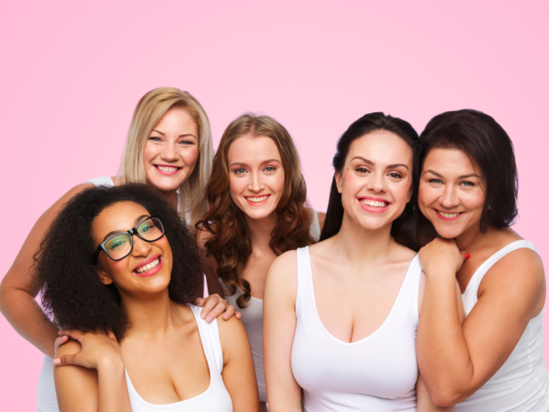 Galentine's Day, group of diverse, happy women