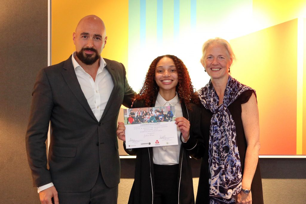 Innovation challenge, national apprenticeship week, Justina Blair
