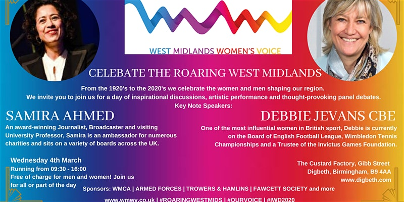 Celebrate the Roaring West Midlands for International Women's Day by West Midlands Women's Voice
