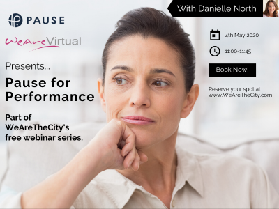 WeAreVirtual - Pause for performance webinar with Danielle North