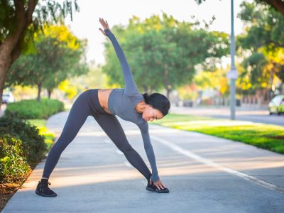 woman stretching before exercise, workout