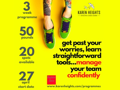 Karen Heights' 3 week confidence programme