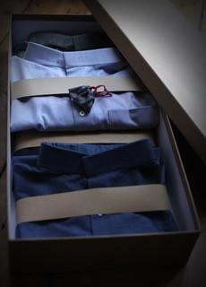 Boxed shirts