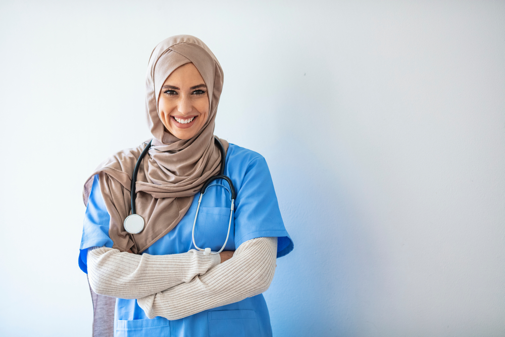 Female, Muslim nurse, International Nurses Day